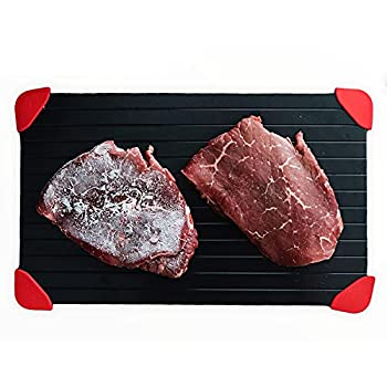 Clerada Defrosting Tray for Frozen Meat which is Large Sized Defroster Aluminum Plate thawing defrost Plate