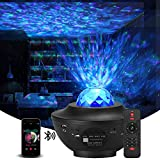 Laser Star Projector with LED Nebula Galaxy ,Night Light Projector for Bedroom,Galaxy Light Projector Bluetooth Function Starry Projector for Kids Baby Bedroom,Game Rooms,Party,Home Theatre