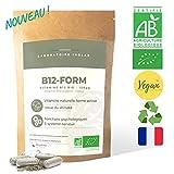 Vitamine B12 BIO & vegan | 3 formes de B12 naturelles & actives | Immunité, formation des globules rouges, système nerveux et psychologique | Sans additifs | 60 gélules