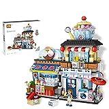GJH 和風料理店 ナノブロック 街の模型 知育玩具 益智ゲーム 家の装飾 子供-かき氷屋_