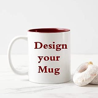 Customizable Mug - 11 oz. Coffee Mug Personalized- ADD Photo, Logo, or Text to Custom Mugs, Ceramic, Personalizadas, Monogram Novelty Mug, Birthday Anniversary Gifts
