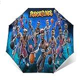 自動開閉式折りたたみ傘 アメリカ人男子バスケットボール 傘 防風、防水および紫外線抵抗、持ち運びが簡単で、パーソナライズがいっぱい 学校、旅行、買い物、買い物、仕事