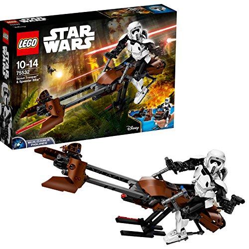 LEGO Star Wars 75532 - Scout Trooper und Speeder Bike, Baufigur