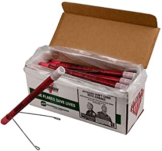 Orion Road Safety Flare (36 Pack), Waxed, for Highway & Roadside Safety (20 Minute, with Stand)
