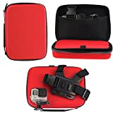 Navitech Red Shock Proof Action Camera Case/Cover Compatible with The Mobius Action Camera 1080P HD Mini Sports Cam