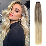 Best Tape In Hair Extensions - Caliee Salon Quality 20 Inch Remy Tape in Review