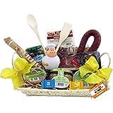 Koch Geschenk-Korb Präsentkorb (6081) mit Delikatessen und Süßigkeiten, antistress Koch-Figur Knautschi SQUEEZIES®