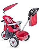 FEBER- Baby Trike Easy Evolution, Triciclo, Color Rojo, 24.9 x 14.0 x 11.9 (Famosa 800009473)