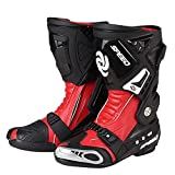 Botas de Motocross Carreras Pro Rojo, Zapatos Motocicleta To