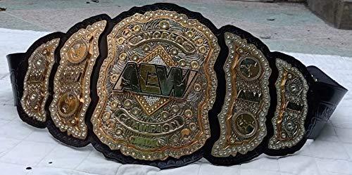AEW World Champion 3 capas 4 MM Zink Placas Réplica Cinturón Tamaño Adulto