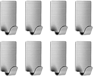 VanStar Adhesive Hooks Heavy Duty Wall Hangers Hooks Waterproof Stainless Steel Towel Hanger Holder Stick on Hooks for Han...