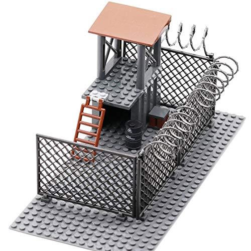 aolongwl Bloques de construcción The Walking Dead Wire Mesh Zombies Prison Post City Swat Bloques De Construcción Figuras Ladrillos Juguetes Educativos para Niños Regalos para Niños