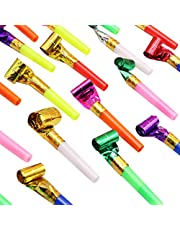 Coxeer 100PCS Party Blower Funny Musical Blowouts Party Horn Birthday Party Favors for Kid