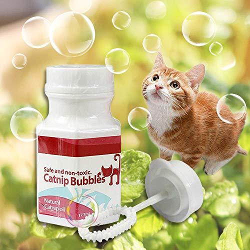 Souarts Catnip Bubbles Cat Spray Spielzeug Bubbles Katzenspielzeug Interaktive Spray Katzenspielzeug