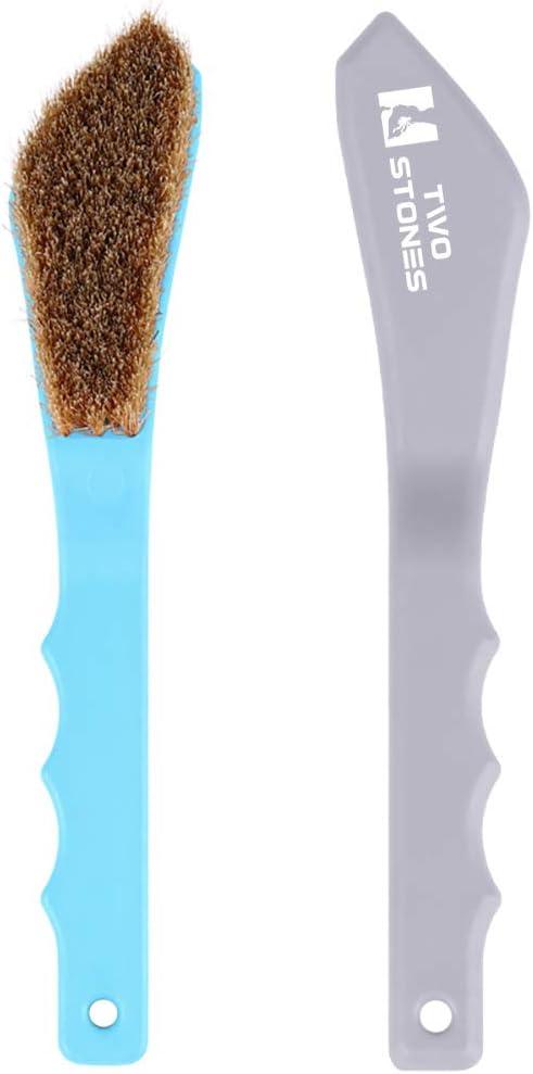 TWO STONES Boar Hair Rock with Miami Mall Rare Handle Climbing Ergonomic Brush