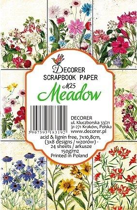 Paper Moon - Scrapbooking carta di lusso 10.5cm x 7cm x 8 fogli - Meadow