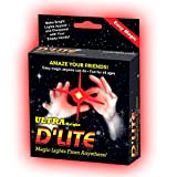 D lites Regular Red Lightup Magic - Thumbs Set / 2 Original Amazing Ultra Bright Light - Closeup & Stage Magic Tricks - Easy Illusion Anyone Can Do It - See Box for Free Training / Routine Videos