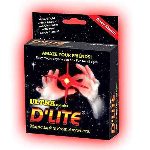 D'lites Regular Red Lightup Magic - Thumbs Set / 2 Original Amazing Ultra Bright Light - Closeup &...