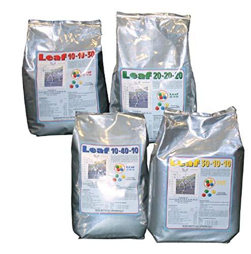 VIALCA Leaf CONCIME 30-10-10 kg. 2 Concime NPK (Azoto Fosforo e Potassio) Fertilizzante CONCIME fogliare e idrosolubile per Tutti i Tipi di Piante ORTO E Giardino