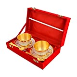 Sunny Silver and Gold Plated Brass Cup Plate and Saucer