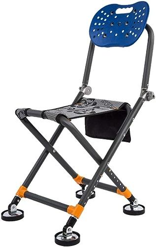 Chaise De Pêche Multi-Fonction Pliant portable Tout-Terrain Chaise De Terrain portable Extérieur Petite Pêche Chaise Réglable Hauteur Portante 150kg (Couleur   Chrome, Taille   A)