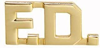FD F.D. FIRE DEPARTMENT DEPT FIREFIGHTER FIREMAN Collar Lapel Pins Insignia Brass Emblem 1/2