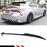 Cuztom Tuning Fits for 2018 2019 Toyota Camry SE XSE LE XLE Hybrid V Style Rear Trunk Lid Spoiler Wing- Painted Gloss Black