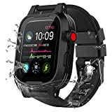 YOGRE Waterproof Watch Case for 42mm, Apple Watch Series 3/2 Cases Built-in Screen Protector Full Body Armor Shell for Waterproof Anti-Scratch Shockproof Impact Resistant (Add 2 Silicone Watch Bands)
