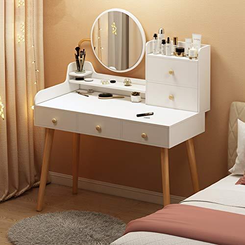 Frisierkommode,Touchscreen Verstellbarer Beleuchteter Spiegel Frisiertisch,Schlafzimmer Schublade Frisiertisch,Damen Led...