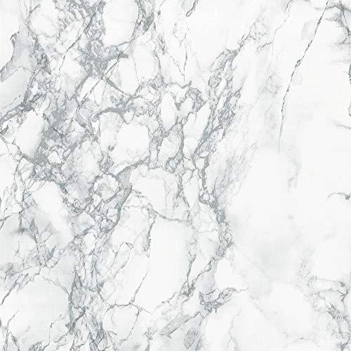 d-c-fix 346-0306 Decorative Grey Marble contact paper, 17' x 78' Roll