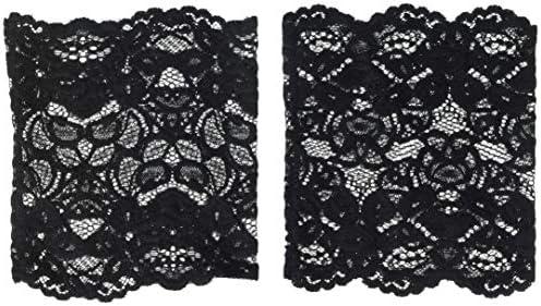 K Bell Socks Women s Lace Boot Cuff Black One Size KBWF20W001 01 product image