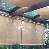 Bambusrollo Premium Rollläden/Jalousien Vorhang - Patio Im Freien Pavillon Pergola Carport Rollo, 60 cm / 80 cm / 100 cm / 120 cm / 140 cm Breite (Size : W 140×H 240cm)
