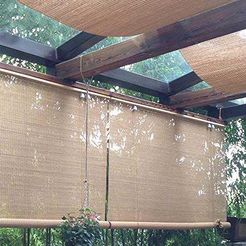 Bambusrollo Premium Rollläden/Jalousien Vorhang - Patio Im Freien Pavillon Pergola Carport Rollo, 60 cm / 80 cm / 100 cm / 120 cm / 140 cm Breite (Size : W 140×H 330cm)