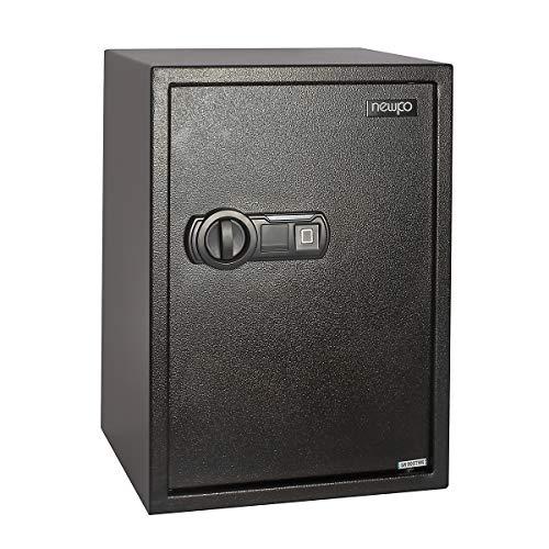 newpo Caja fuerte | Huella digital asegurada 500 x 350 x 310 mm | caja de seguridad caja de muebles caja de mini seguridad caja de pared caja de acero caja de pared