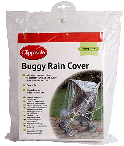Universal Buggy Rain Cover By Clippasafe Transparent