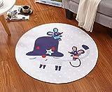 ZXW Alfombra- Dibujos Animados Cound Alfombra Dormitorio Sala de Estar Mesa de Centro Alfombrilla Alfombra para niños Alfombra progresiva (100cm * 100cm) Disponible en 7 Estilos Disponibles
