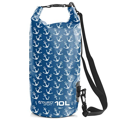 Aduro Waterproof Phone Bag Floating Lightweight Waterproof Bag - Ideal Dry Bags for Kayaking, Rafting, Boating, Swimming, Camping, Hiking, Beach, Fishing, and Backpacking - 2L - Anchor
