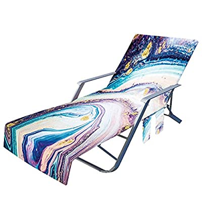 Amazon - Save 80%: Beach Chair Cover with Side Pockets, Microfiber Lounge Chair Towel Rack (J)