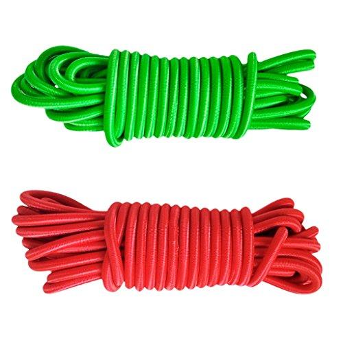 F Fityle 2Pc / Set 16.4ft Cuerda Elástica Resistente Elástica Cuerda de Choque Cuerda de Choque Barco Kayak Amarre