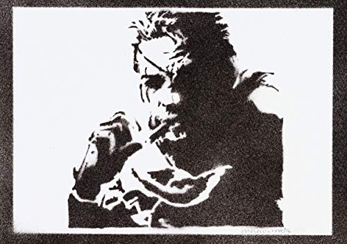 Metal Gear Poster Solid Snake Plakat Handmade Graffiti Street Art - Artwork