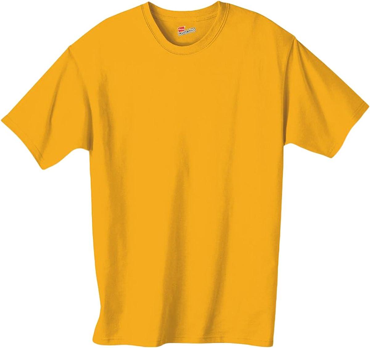 Hanes Authentic TAGLESS Boys' Cotton T-Shirt_Gold_L