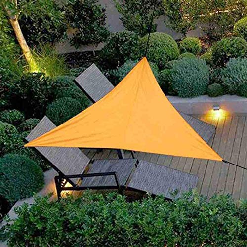 Toldo vela Vela de Sombra Jardín conjuntos solar conjuntos de protección solar, triángulo de la sombra del sol 3x3x3m, tela de sombrilla, Toldo vela de la protección solar con cuerdas para plantas de