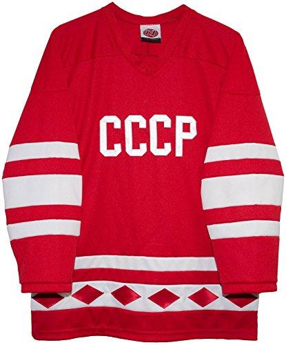 Russian 1980 CCCP Red Hockey Jerseys by K1 Sportswear (Large)