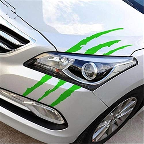 YiMall 4 PCS,29x17 cm,Funny Car Sticker Reflective Monster Scratch Stripe Claw Marks Car Auto Headlight Decoration Vinyl Decal Car Stickers,