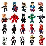 Avengers Figuren Set, 20 Piezas Decoración De Pastel De Superhéroes Cake Topper, Spiderman Mini Figures Figura de Decoración, Decoración de pastel de cumpleaños de Avengers