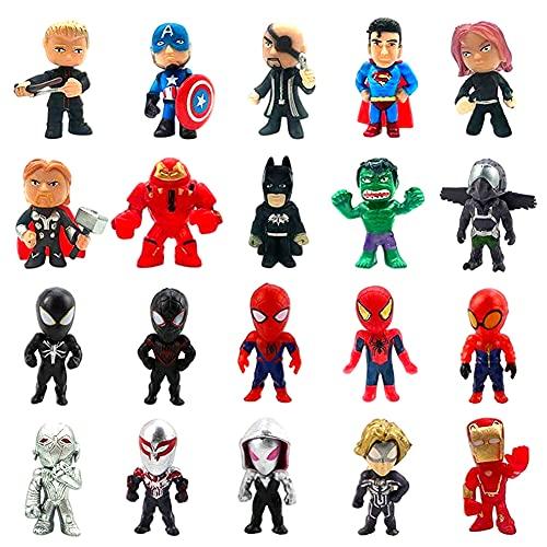 Avengers Figuren Set, 20 Piezas...