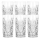 Libbey - Hobstar - Longdrinkglas, Cocktailglas, Wasserglas, Saftglas - 470 ml - Glas - 6er Set -...