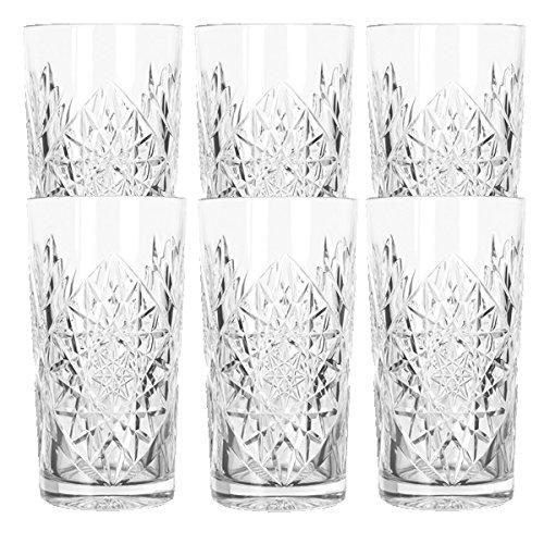 Libbey - Hobstar - Longdrinkglas, Cocktailglas, Wasserglas, Saftglas - 470 ml - Glas - 6er Set - bekannt aus den coolsten Hotels und Bars