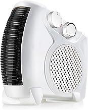 NFJ-LYR Calefactor Ventilador,Protección sobrecalentamiento,Calefactor Portátil,Termostato Regulable,Calefactor bajo Consumo electrico,2 Modos,Ventiladores bajo Consumo