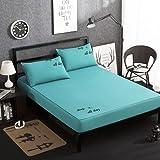 JNMG Sábana bajera para cama con somier, monocolor, sábana bajera de microfibra, suave funda de colchón para cama Sche, sábana bajera ajustable hasta 30 cm (9,200 cm x 220 cm)